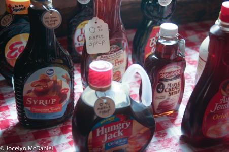 pancake syrup vs. maple syrup