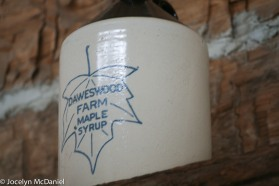 Daweswood farm syrup jug