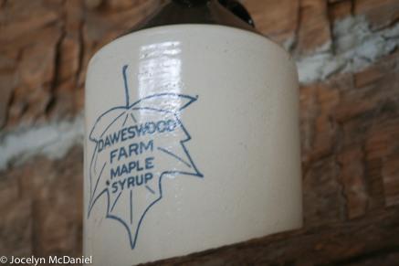 Daweswood farm syrup jug