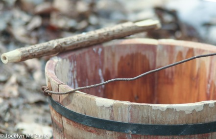old fashioned spile and bucket