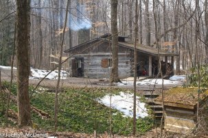 photo of the sugar shack at Dawes Arboretum