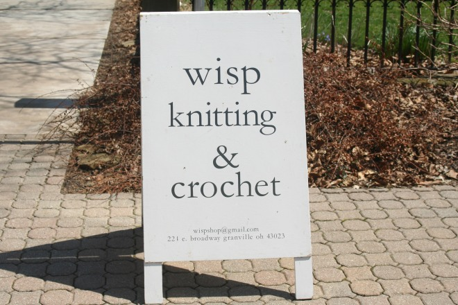 photo of sign for Wisp Shop