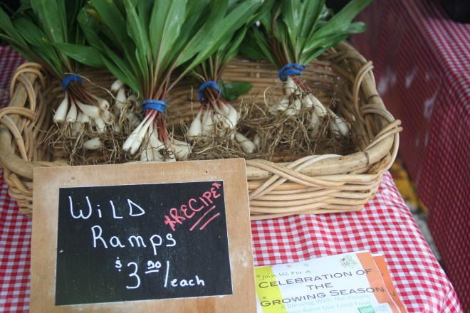 photo of wild ramps for sale at Granville Farmer's Market