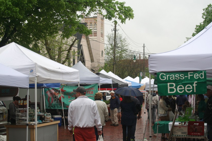 Rainy Saturday at the Farmer's Market
