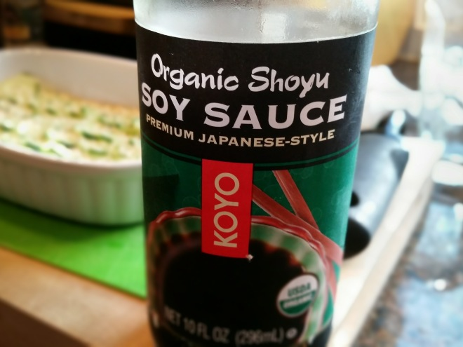 photo of a bottle of soy sauce