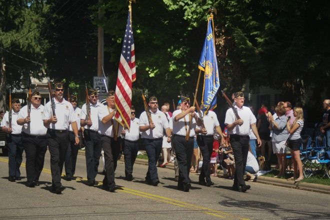 photo of American Legion Color Guard at Fourth of July Parade, Granville, Ohio