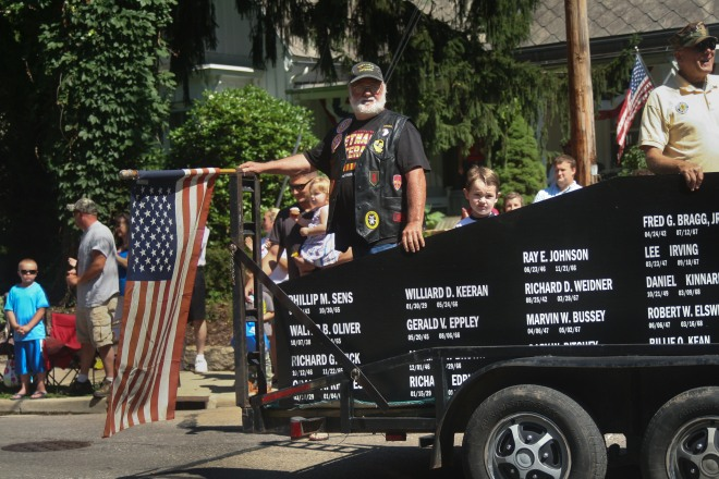 photo of the Vietnam veterans float in the Fourth of July Parade, Granville, Ohio