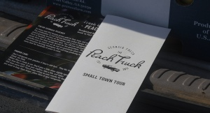 photo of Peach Truck marketing materials